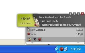 Live Cricket Scores Desktop Gadget download